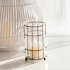 Captured Glass Hurricane Candle Holder