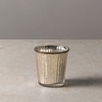 Mercury Ribbed Tealight Holder