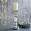 Mercury Pillar Large Candle Holder