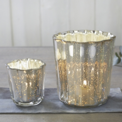 Mercury Fluted Tealight Holder Small