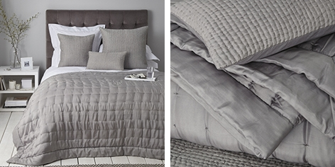 Carrington Quilts & Cushion Covers - Soft Slate