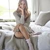 Cashmere Bed Socks - Vintage Pink