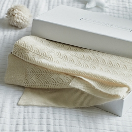 Cashmere Christening Baby Blanket