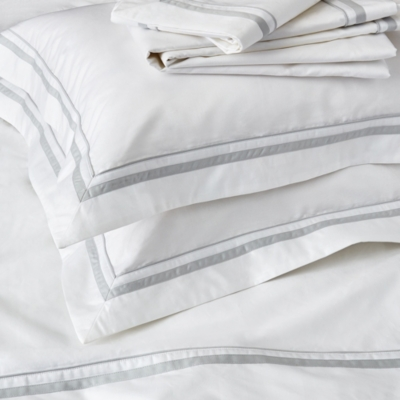 Cavendish Flat Sheet - White Silver