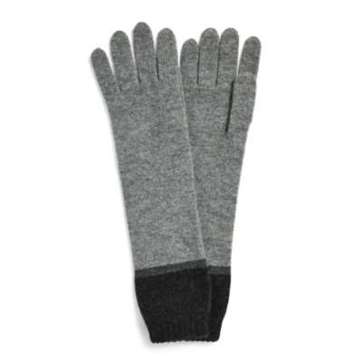 Cashmere Long Color Block Gloves