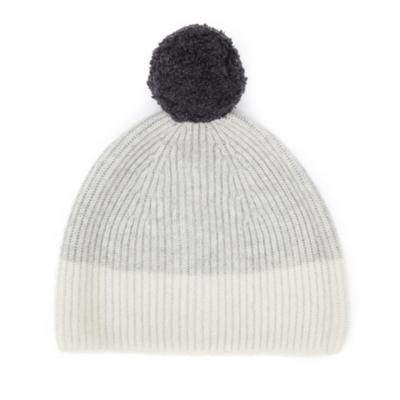 Color Block Bobble Hat
