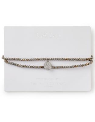 Crystal Bead Tassel Bracelet