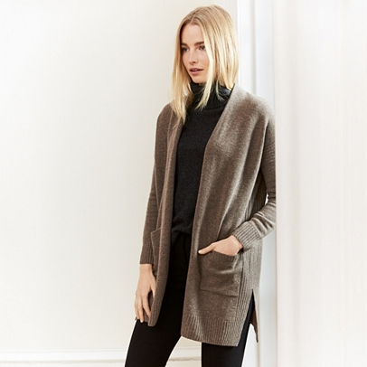 Wool-Cashmere Long Cardigan | Sweaters & Cardigans | The White ...