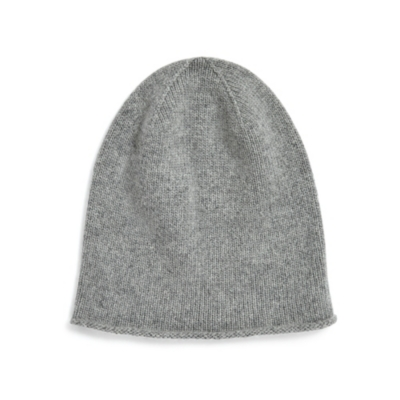 Cashmere Slouchy Beanie - Gray Marl