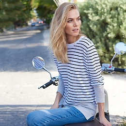 Linen Color Block Striped Sweater