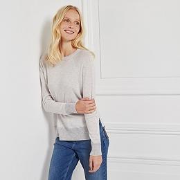 Wool-Cashmere Colourblock Sweatshirt