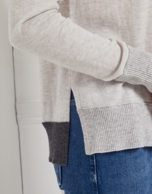 Wool-Cashmere Colourblock Sweatshirt