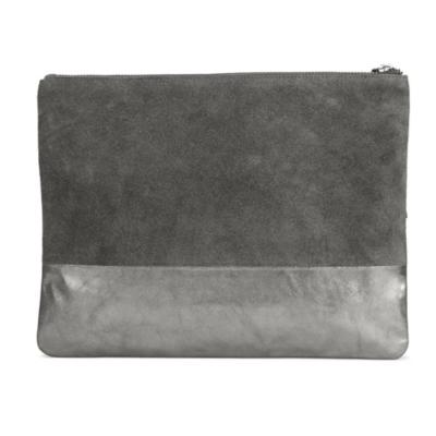 Color Block Metallic Clutch
