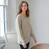 Color Block Horizontal Ribbed Sweater