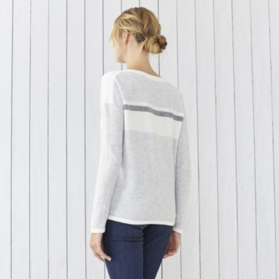 Color Block Stripe Sweater