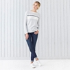 Color Block Stripe Sweater