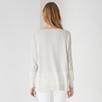 Color Block Slash Neck Sweater - Cloud Marl
