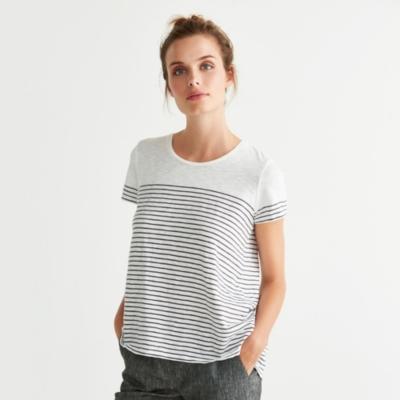 Cotton Slub Striped T-Shirt