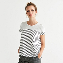 Cross Back Stripe T-Shirt