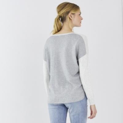 Color Block V-Neck Sweater