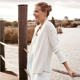 Chunky Curved Back Cardigan