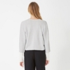 Cropped Cardigan - Pale Gray Marl