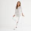 Cashmere Curved Hem Sweater - Cloud Marl