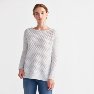 Cashmere All Over Cable Sweater