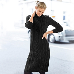Chunky Cable Knitted Dress