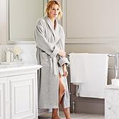 Unisex Classic Cotton Robe - Silver