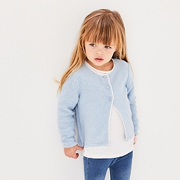 Crochet Trim Cardigan (1-6yrs)