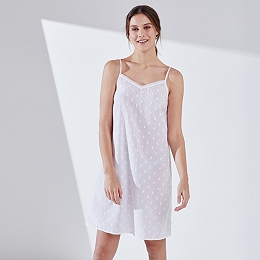 Cotton Embroidered Nightgown