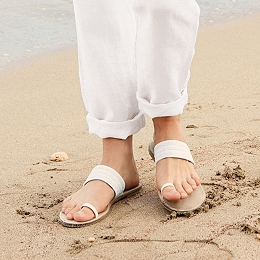 Ceramic Bead Toe Post Sandals