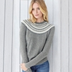 Crystal Fairisle Neck Sweater