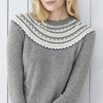 Crystal Fairisle Neck Sweater