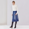 Cashmere Funnel Neck Sweater - Porcelain