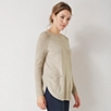 Curved Hem Button Back Sweater - Taupe Marl