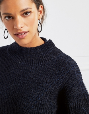 Chenille Blend Cable Sweater