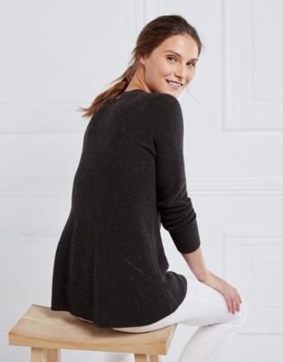 Chevron Detail Swing Sweater