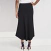 Curved Hem Woven Skirt