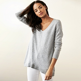 Cashmere Swing Sweater - Mid Gray Marl