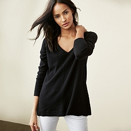 Cashmere Swing Sweater - Black