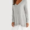 Cashmere Swing Sweater - Pale Gray Marl