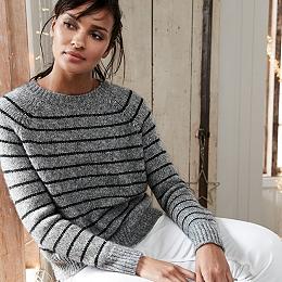 Chunky Sparkle Stripe Sweater