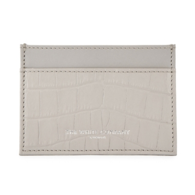 Embossed Croc Effect Leather Card Holder