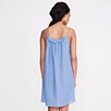 Chambray Ruffle Nightgown - Pale Blue