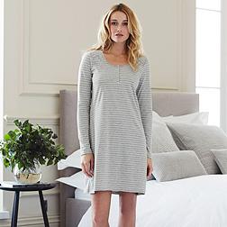 Stripe Nightie - Grey White Stripe