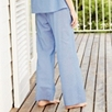 Chambray Pajama Pants - Pale Blue