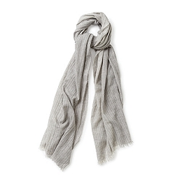 Cashmere-Silk Stripe Scarf