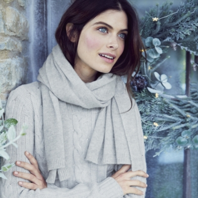 Essential Cashmere Scarf - Pale Gray Marl